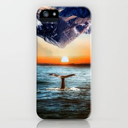 A whale and a morning iPhone Case