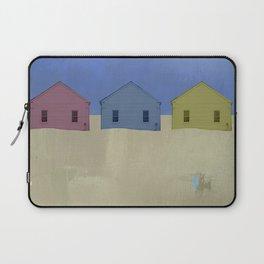 Beach Cottages, colorful houses, coastal, row houses Laptop Sleeve