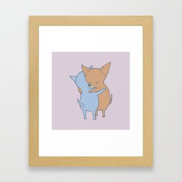Chihuahua Hugs Framed Art Print