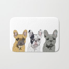 Triple Frenchies Bath Mat