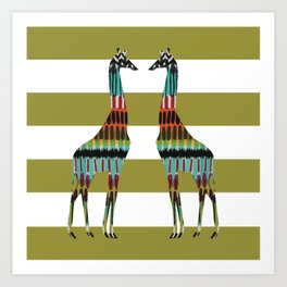 Safari Stripes Art Print