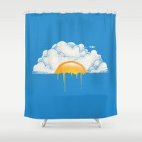 breakfast Shower Curtains featuring Breakfast by carbine