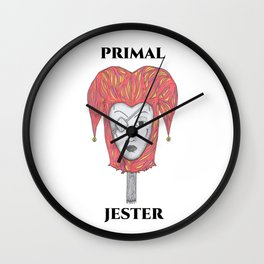 PRIMAL JESTER Wall Clock