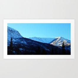 White Peaks Art Print