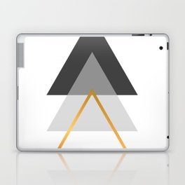 Triangles art, Black, white and gold Laptop & iPad Skin