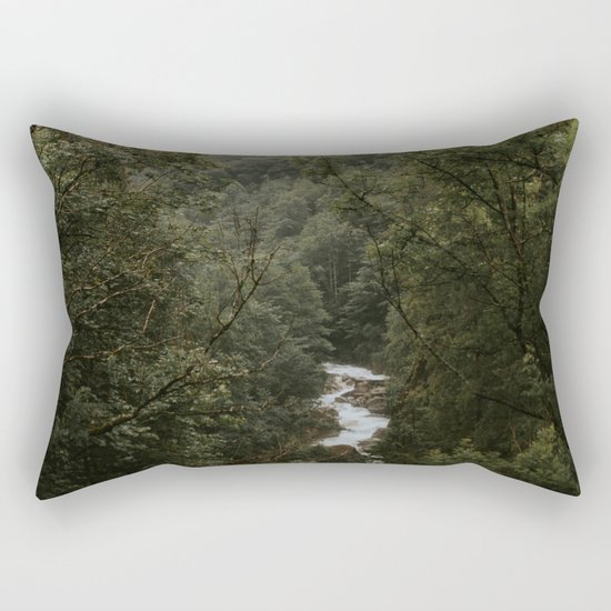 Forest Valley River - Landscape Photography Rectangular Pillow