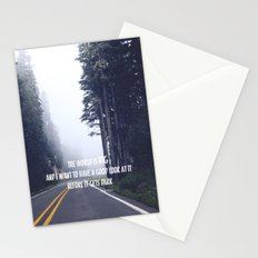 the world is big Stationery Cards