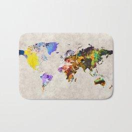 World Map 54 Bath Mat