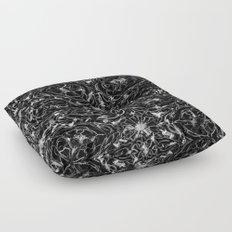 Black and white astral paint 5020 Floor Pillow