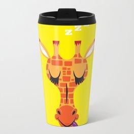 Sleepy Giraffe Metal Travel Mug