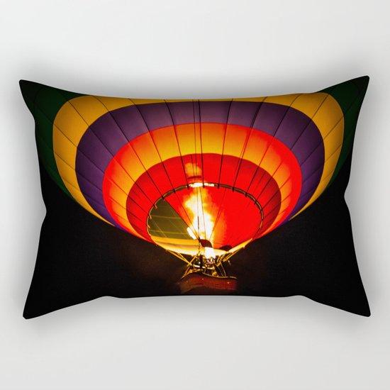 Night hot air balloon adventure Rectangular Pillow