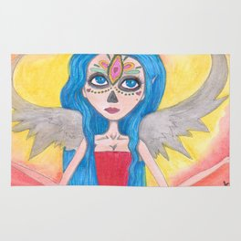Day of the Dead Angel Rug