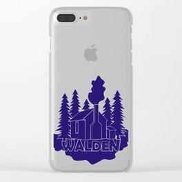 Walden - Henry David Thoreau (Blue version) Clear iPhone Case