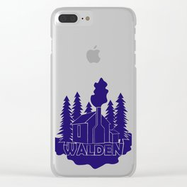 Walden - Henry David Thoreau (Blue version) Clear iPhone Case