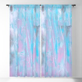 pink & blue abstract Blackout Curtain