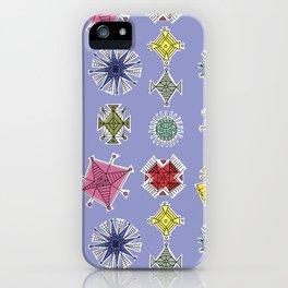 Geos Retro blue iPhone Case