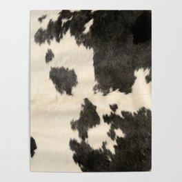 Black & White Cow Hide Poster