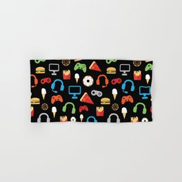 Video Game Party Snack Pattern Hand & Bath Towel