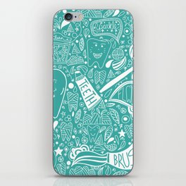 Happy Doodle Teeth iPhone Skin
