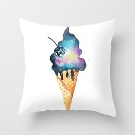 Cold as space))) Throw Pillow