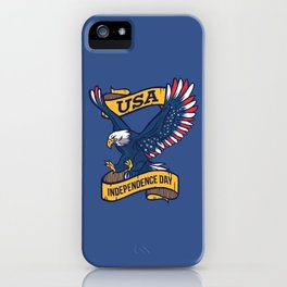 USA Independence Day July 4th iPhone Case