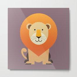 Whimsy Lion Metal Print