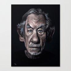 Ian Mckellen Caricature  (Digital  painting) Canvas Print