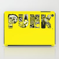 punk iPad Cases featuring PUNK by René Barth