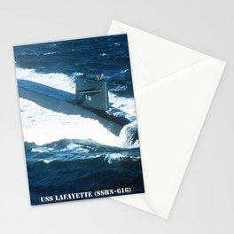USS LAFAYETTE (SSBN-616) Stationery Cards