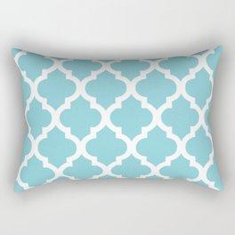 Moroccan Blue Rectangular Pillow