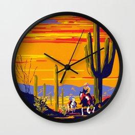 Saguaro National Monument Wall Clock