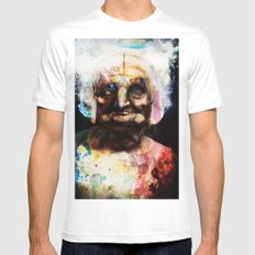Old Paint White Mens Fitted Tee MEDIUM
