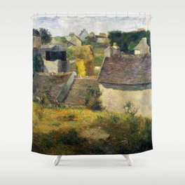 Houses at Vaugirard by Paul Gauguin Shower Curtain