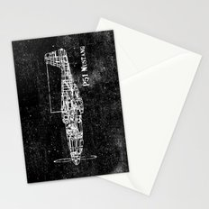 North American P51 Mustang (White) Stationery Cards