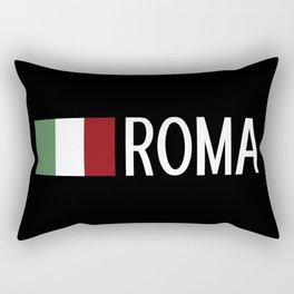 Italy: Italian Flag & Roma Rectangular Pillow