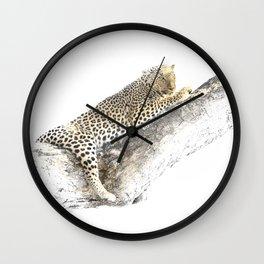 Lazy Leopard Wall Clock