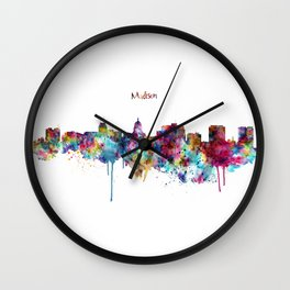 Madison Skyline Silhouette Wall Clock