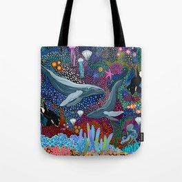 Whale Ocean Life Tote Bag