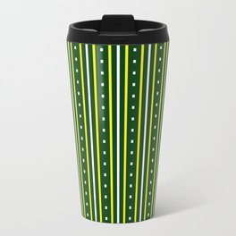 Stripes Pattern #204 (green) Travel Mug