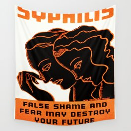 Vintage poster - Syphilis Wall Tapestry