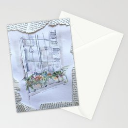 nyu windowbox newsprint collage Stationery Cards