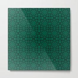 Lush Meadow Geometric Metal Print