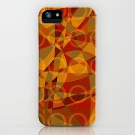 Círculos cálidos · Glojag iPhone Case
