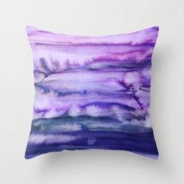 Power Purple Throw Pillow