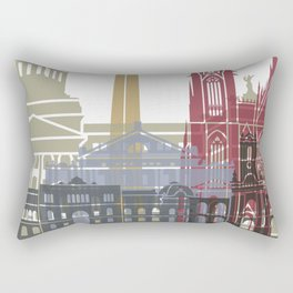 Buenos Aires skyline poster Rectangular Pillow