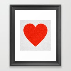 Heart Mosaic Squares Framed Art Print