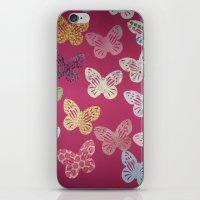 butterflies iPhone & iPod Skins featuring Butterflies  by Sammycrafts