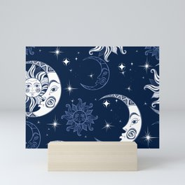 Stars and Satellites Mini Art Print