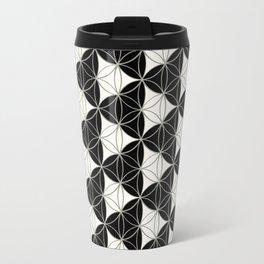 Triad Pattern Black-White Travel Mug