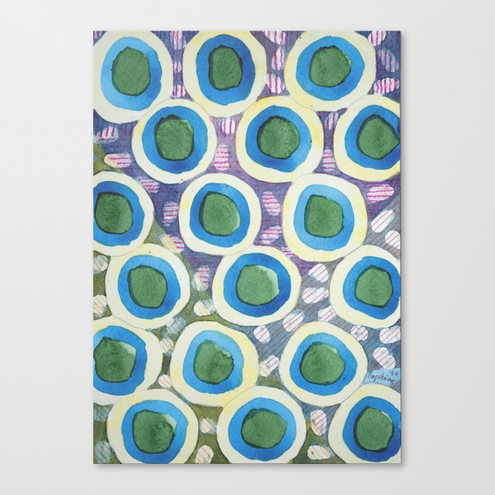 Four Directions Dot Pattern Canvas Print